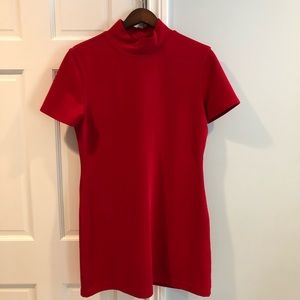 Stretchy Red Mock Neck Dress by Limited